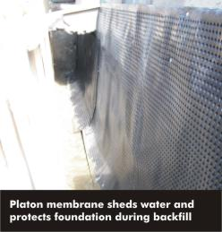 foundation with platon membrane